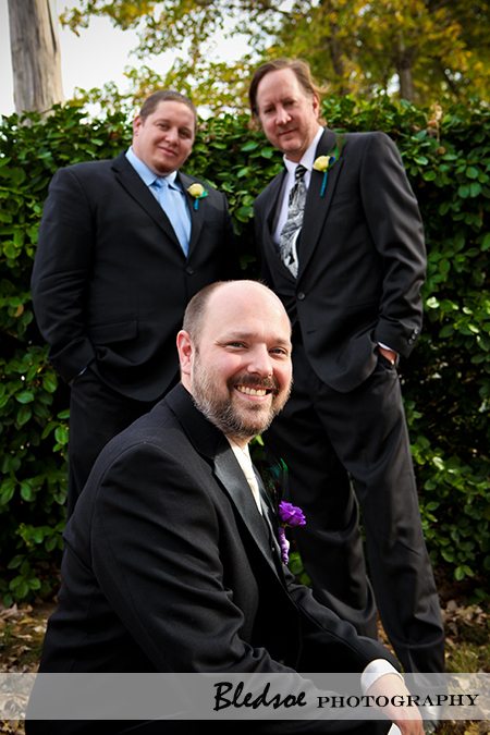 """Groom and his groomsmen"""