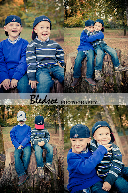"""Boys Wearing Atlanta Braves Hats"""