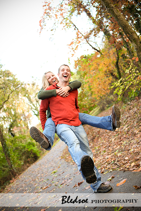 """Piggyback ride though Campbell Station Park in Knoxville"""