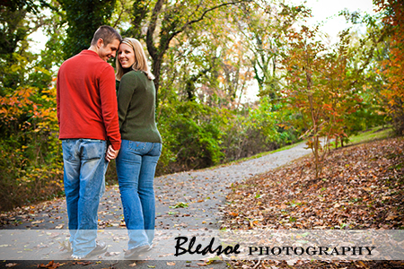 """Engaged couple hikes through Campbell Station Park in Knoxville"""