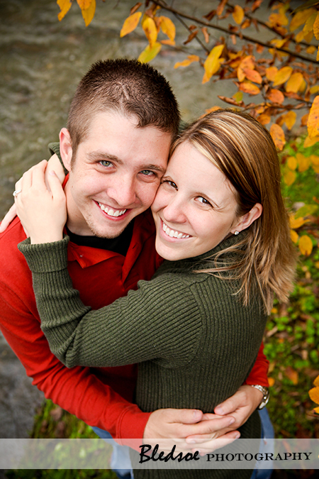 """Engaged couple, Allie and Robbie at Campbell Station Park in Knoxville"""