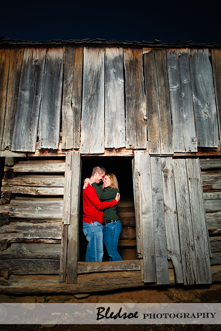 """Engagement photos at Cades Cove barn"""