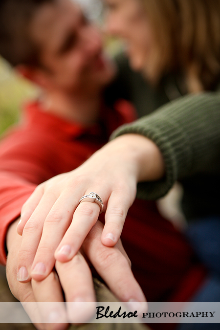 """Showing off the engagement ring at Campbell Station Park in Knoxville"""
