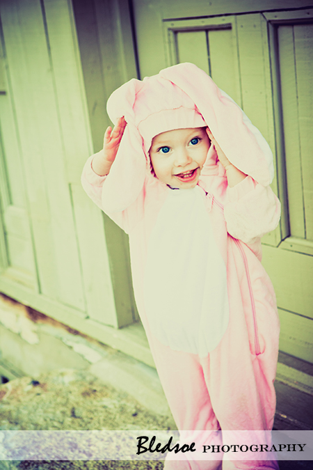 """Allie in her bunny costume for Halloween"""