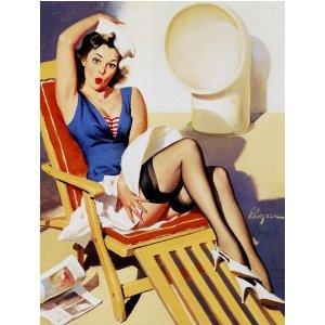 """Gil Elvgren's 'Skirts Ahoy!' 1967"""
